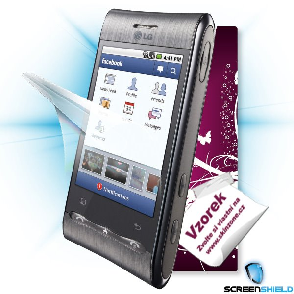 ScreenShield LG GT540 Optimus - Film for display protection and voucher for decorative skin (including shipping fee to e
