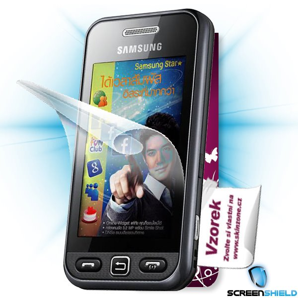 ScreenShield Samsung GT-S5233/S5230 STAR - Film for display protection and voucher for decorative skin (including shippi