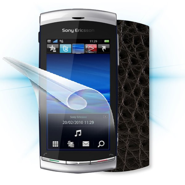 ScreenShield Sony Ericsson Vivaz - Films on display and carbon skin (leather)