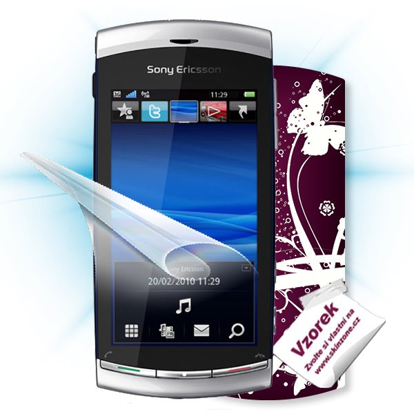 ScreenShield Sony Ericsson U8i Vivaz pro - Film for display protection and voucher for decorative skin (including shippi