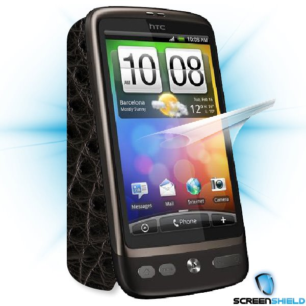 ScreenShield HTC Desire - Films on display and carbon skin (leather)