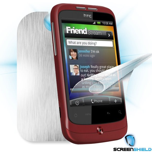 ScreenShield HTC Wildfire - Films on display and carbon skin (silver)