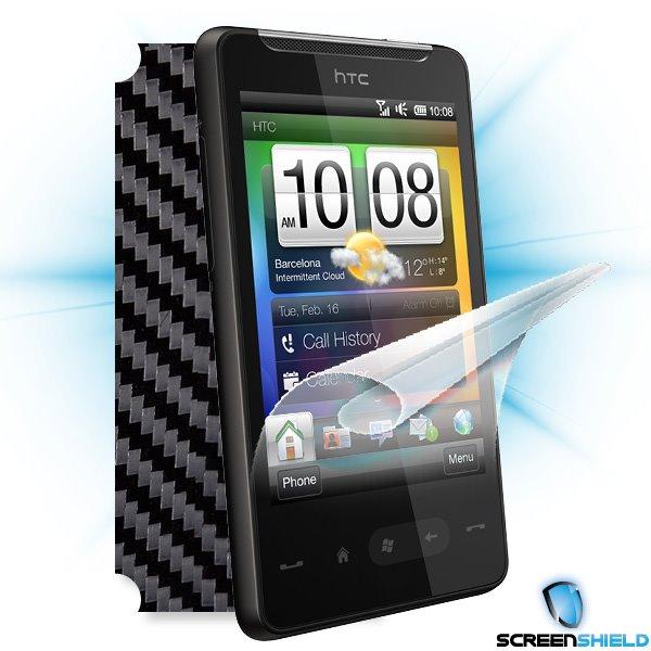 ScreenShield HTC HD mini - Films on display and carbon skin (black)