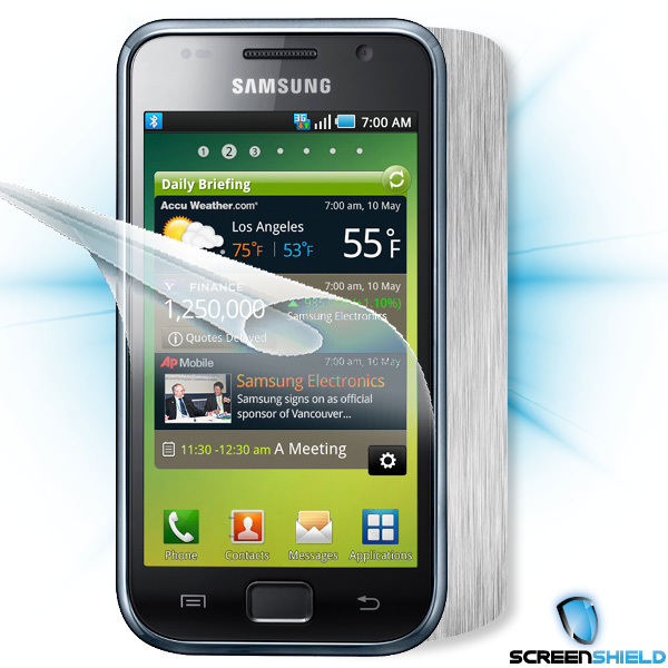 ScreenShield Samsung Galaxy S (i9000) - Films on display and carbon skin (silver)