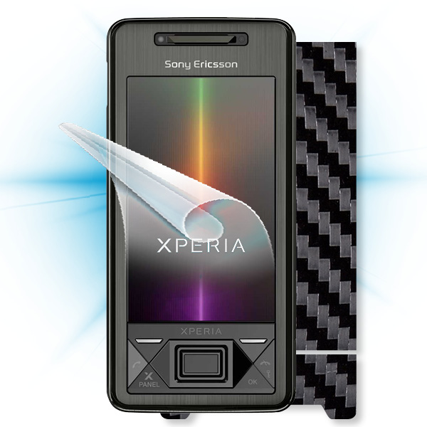 ScreenShield Sony Ericsson Xperia X1 - Films on display and carbon skin (black)