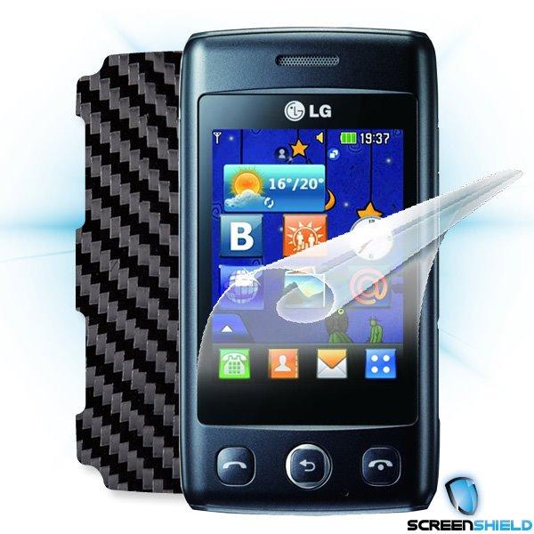 ScreenShield LG Wink Lite (T300) - Films on display and carbon skin (black)