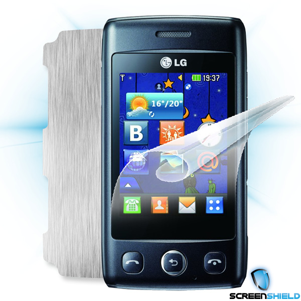 ScreenShield LG Wink Lite (T300) - Films on display and carbon skin (silver)