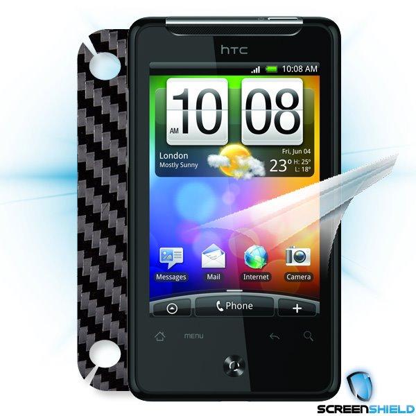 ScreenShield HTC Gratia - Films on display and carbon skin (black)