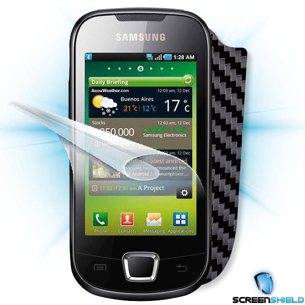 ScreenShield Samsung Galaxy 3 (i5800) - Films on display and carbon skin (black)