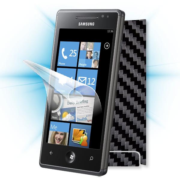 ScreenShield Samsung Omnia 7 (i8700) - Films on display and carbon skin (black)