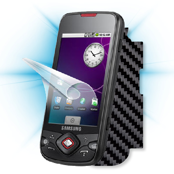 ScreenShield Samsung Galaxy Spica (i5700) - Films on display and carbon skin (black)