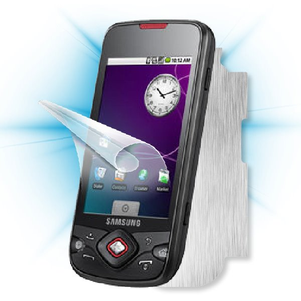ScreenShield Samsung Galaxy Spica (i5700) - Films on display and carbon skin (silver)