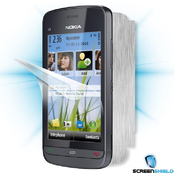 ScreenShield Nokia C5-03 - Films on display and carbon skin (silver)