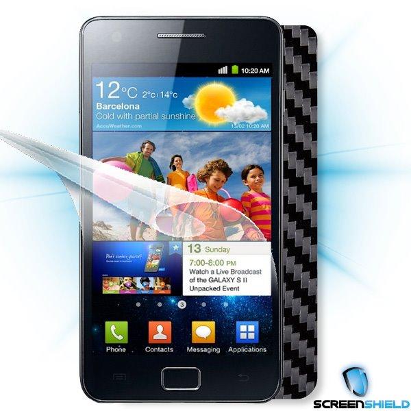 ScreenShield Samsung Galaxy S II (i9100) - Films on display and carbon skin (black)