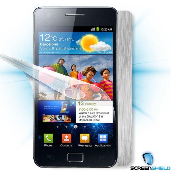 ScreenShield Samsung Galaxy S II (i9100) - Films on display and carbon skin (silver)