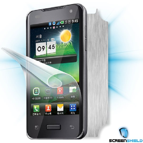 ScreenShield LG Optimus 2X (P990) - Films on display and carbon skin (silver)