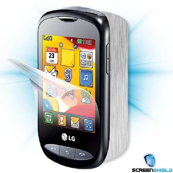 ScreenShield LG Wink Style (T310) - Films on display and carbon skin (silver)