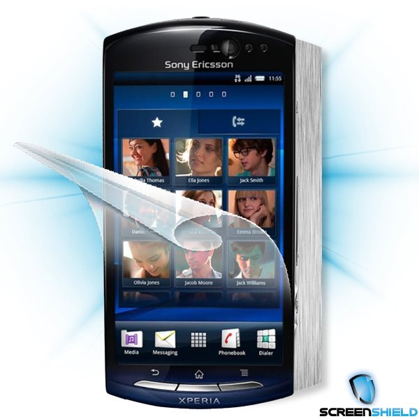 ScreenShield Sony Ericsson Xperia Neo (MT15i) - Films on display and carbon skin (silver)
