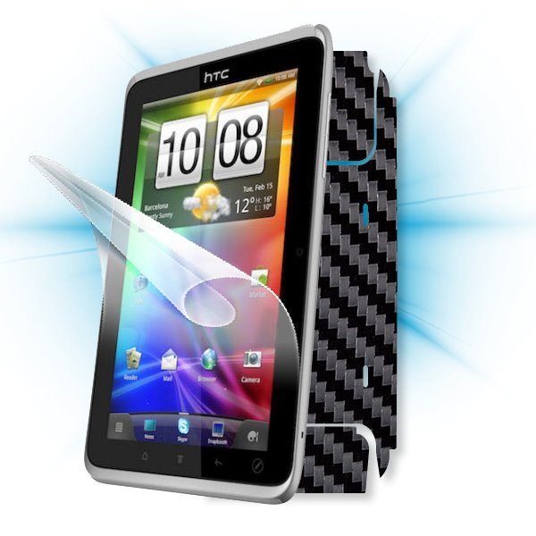 ScreenShield HTC Flyer Tablet PC - Films on display and carbon skin (black)