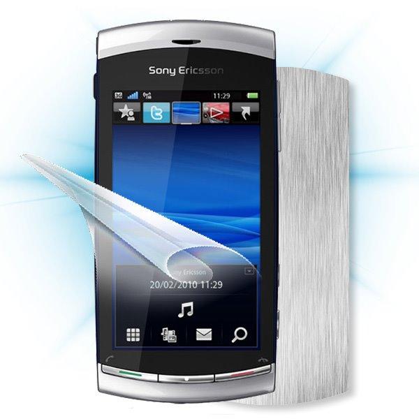 ScreenShield Sony Ericsson U8i Vivaz pro - Films on display and carbon skin (silver)
