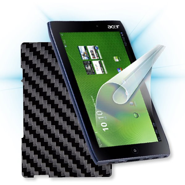 ScreenShield Acer Iconia TAB A500 Picasso - Films on display and carbon skin (black)
