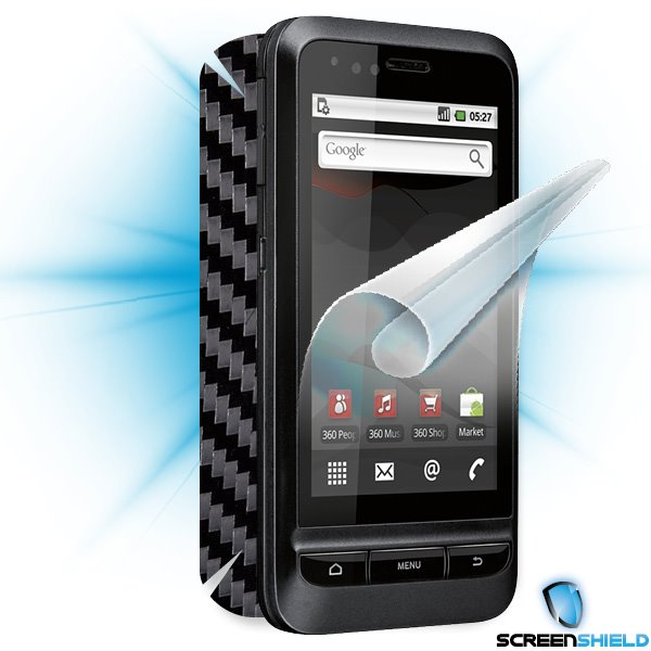 ScreenShield Vodafone 945 - Films on display and carbon skin (black)