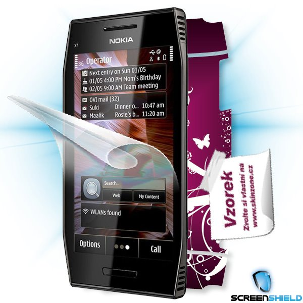 ScreenShield Nokia X7-00 - Film for display protection and voucher for decorative skin (including shipping fee to end cu