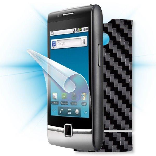 ScreenShield Huawei U8500 - Films on display and carbon skin (black)