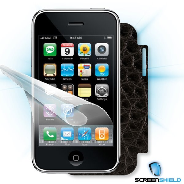 ScreenShield iPhone 3G/3GS - Films on display and carbon skin (leather)