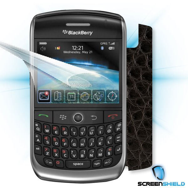 ScreenShield Blackberry Curve 8900 - Films on display and carbon skin (leather)