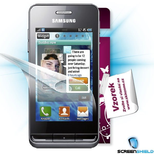 ScreenShield Samsung Wave 723 - Film for display protection and voucher for decorative skin (including shipping fee to e