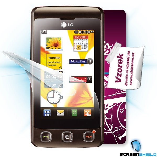 ScreenShield LG KP500 - Film for display protection and voucher for decorative skin (including shipping fee to end custo