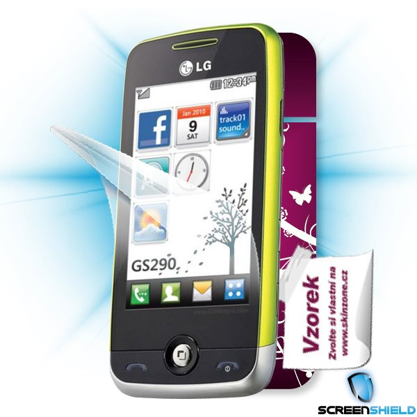 ScreenShield LG GS290 - Film for display protection and voucher for decorative skin (including shipping fee to end custo
