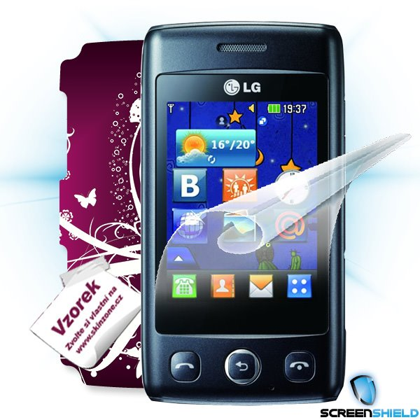 ScreenShield LG Wink Lite (T300) - Film for display protection and voucher for decorative skin (including shipping fee t
