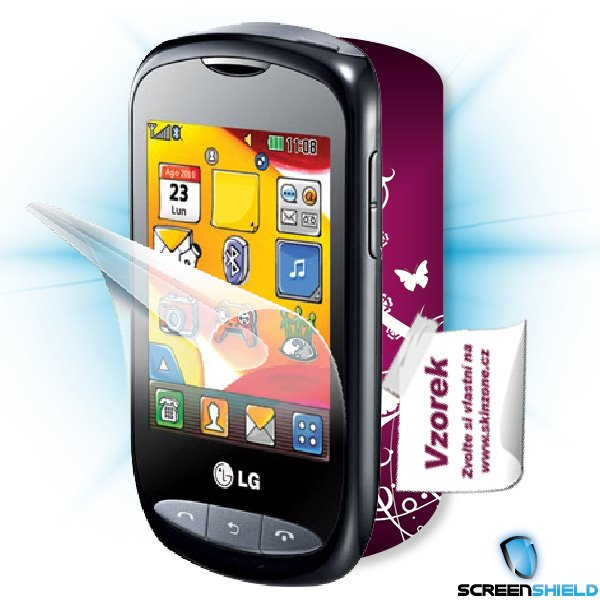 ScreenShield LG Wink Style (T310) - Film for display protection and voucher for decorative skin (including shipping fee