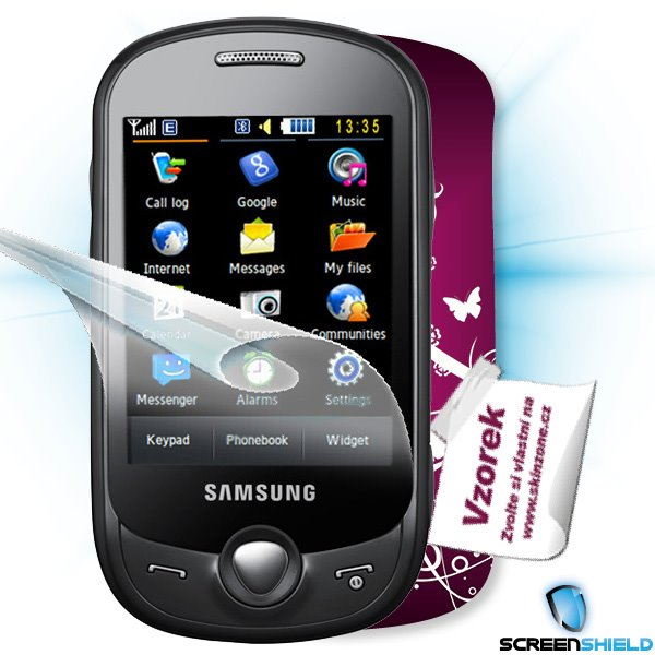 ScreenShield Samsung Genoa (C3510) - Film for display protection and voucher for decorative skin (including shipping fee