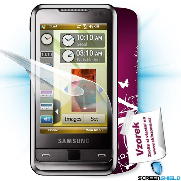 ScreenShield Samsung Omnia (i900) - Film for display protection and voucher for decorative skin (including shipping fee
