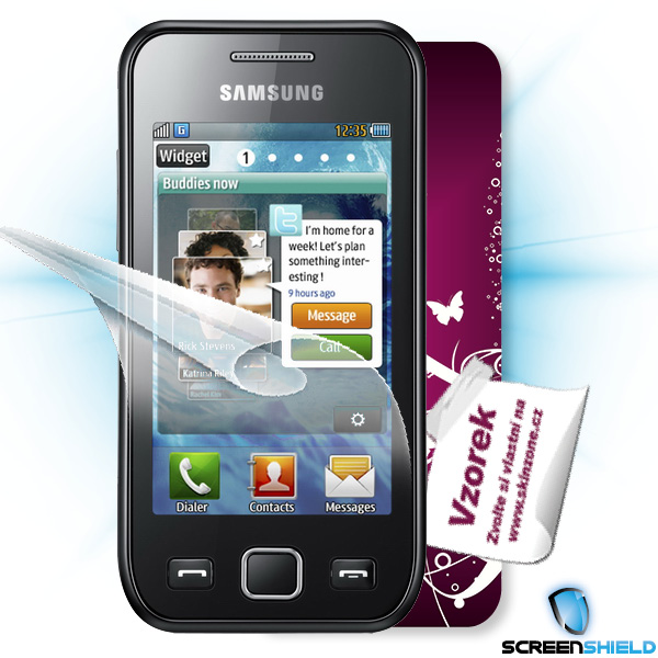 ScreenShield Samsung Wave 525 (S5250) - Film for display protection and voucher for decorative skin (including shipping