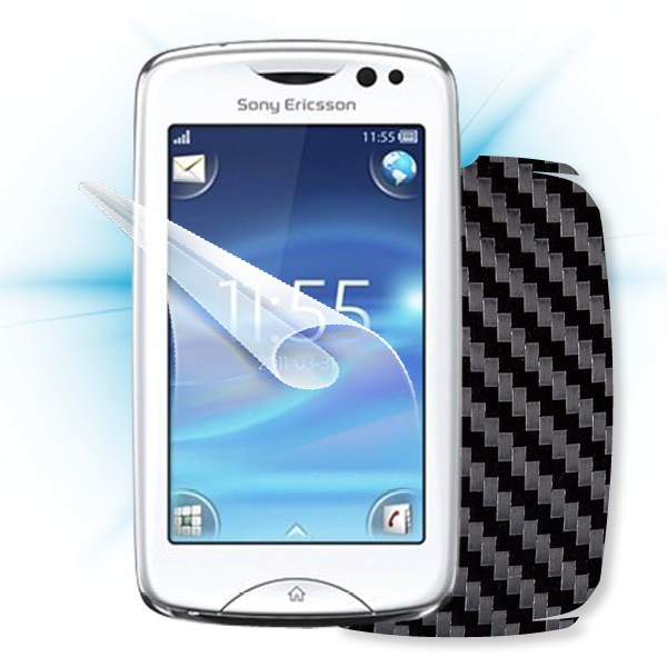 ScreenShield Sony Ericsson Xperia txt Pro - Films on display and carbon skin (black)