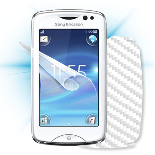 ScreenShield Sony Ericsson Xperia txt Pro - Films on display and carbon skin (white)
