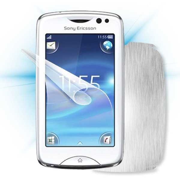ScreenShield Sony Ericsson Xperia txt Pro - Films on display and carbon skin (silver)