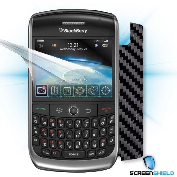 ScreenShield Blackberry Curve 8900 - Films on display and carbon skin (black)