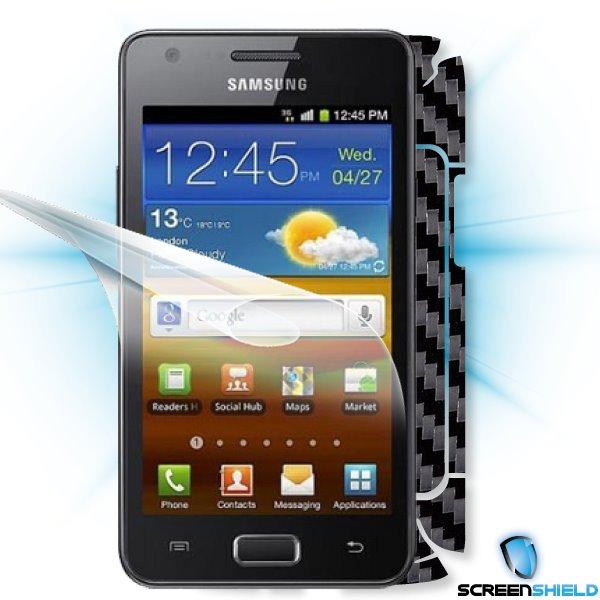 ScreenShield GT-i9103 Galaxy R - Films on display and carbon skin (black)
