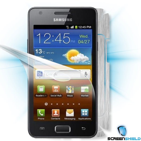 ScreenShield GT-i9103 Galaxy R - Films on display and carbon skin (silver)