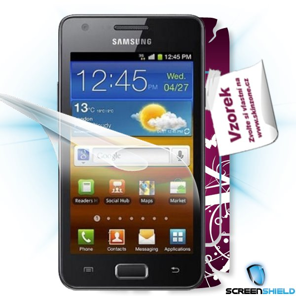 ScreenShield GT-i9103 Galaxy R - Film for display protection and voucher for decorative skin (including shipping fee to
