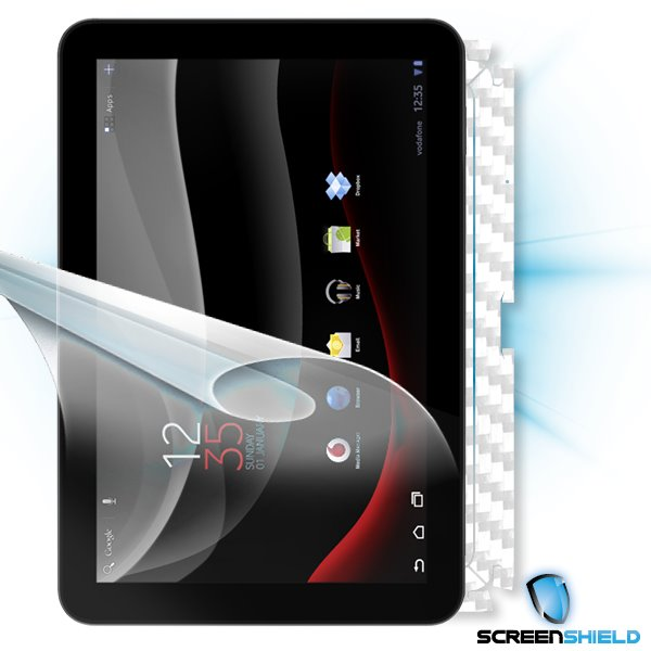 ScreenShield Vodafone Tablet - Films on display and carbon skin (white)