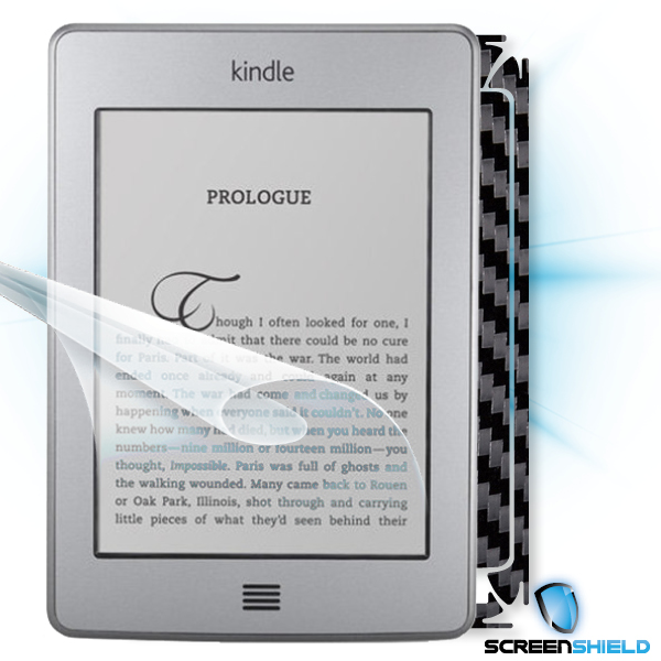 ScreenShield Amazon Kindle Touch - Films on display and carbon skin (black)