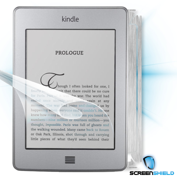 ScreenShield Amazon Kindle Touch - Films on display and carbon skin (silver)