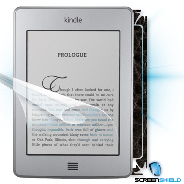ScreenShield Amazon Kindle Touch - Films on display and carbon skin (leather)