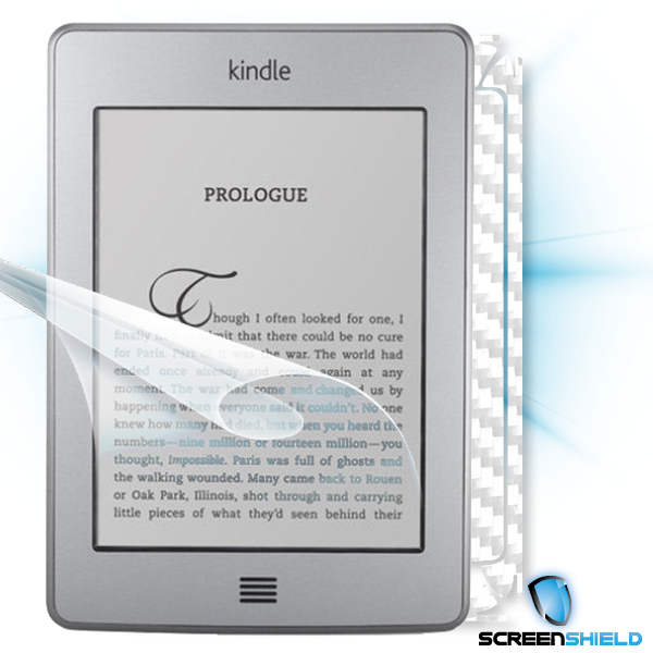 ScreenShield Amazon Kindle Touch - Films on display and carbon skin (white)